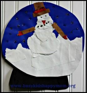 Snow Globe Paper Craft