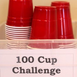 100 Cup Challenge – Fun Rainy Day Activity