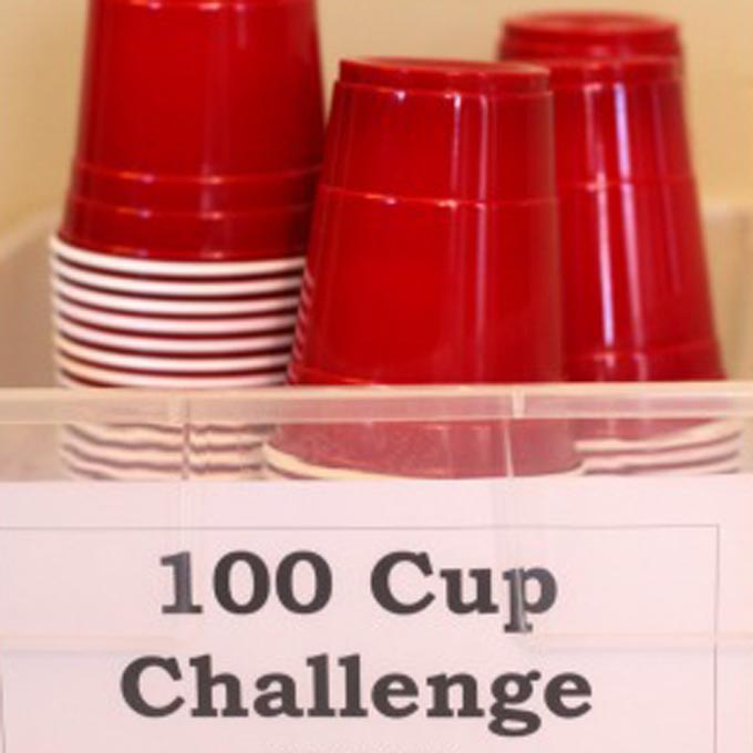 100 Cup Challenge Busy Kids Happy Mom