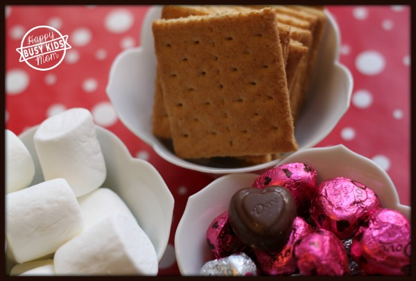 S'mores with Kids for Valentine's Day