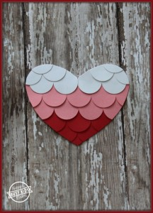 Handmade Ombre Heart Card by Kids