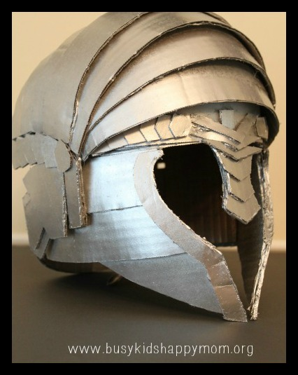 DIY Knight Helmet or Warrior Helmet Busy Kids Happy Mom