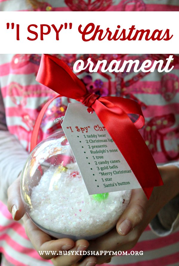 "18+ Homemade Christmas Ornaments with this ""i Spy"" Ornament"