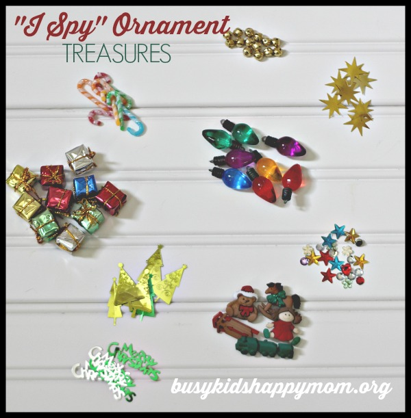 I Spy Christmas Ornament - suggested treasures