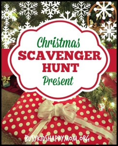 Christmas Scavenger Hunt with Clues