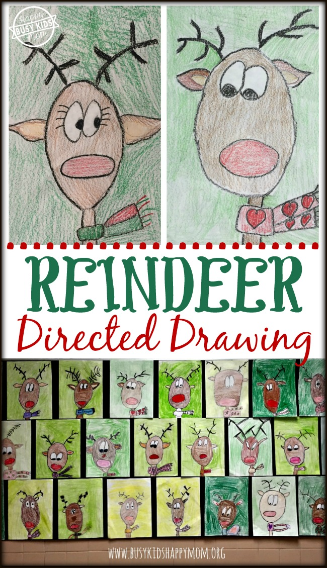 Reindeer Directed Drawing for Classrooms