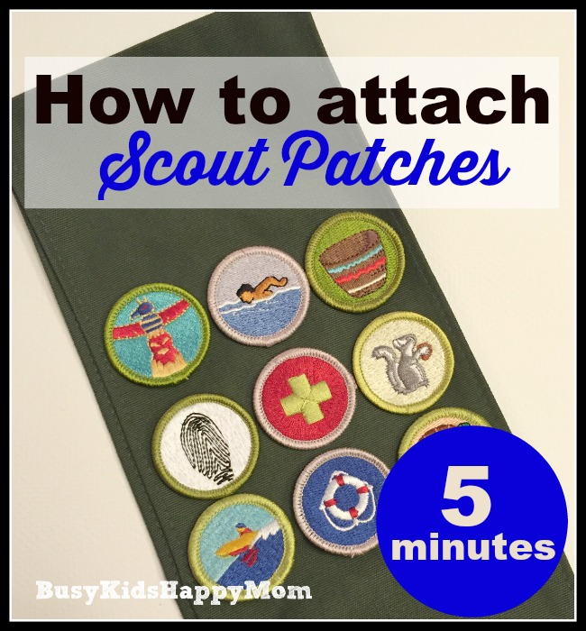 How to Attach Scout Patches
