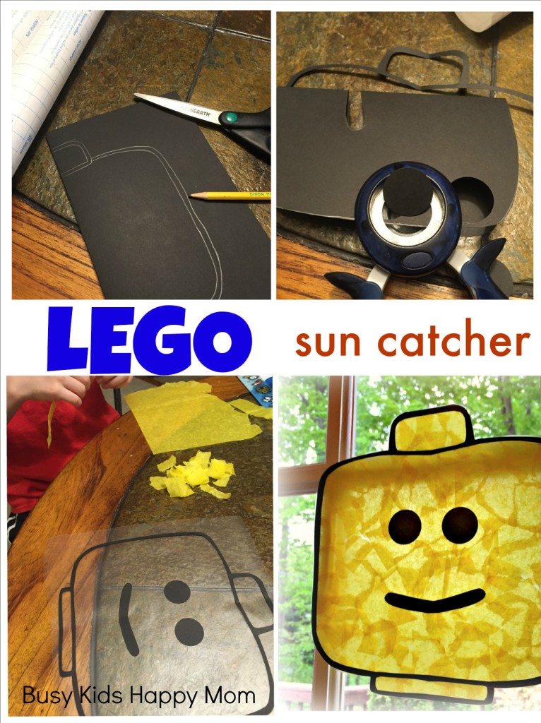 LEGO minifigure sun catcher