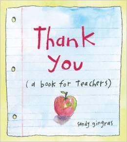 thank you a book for teachers