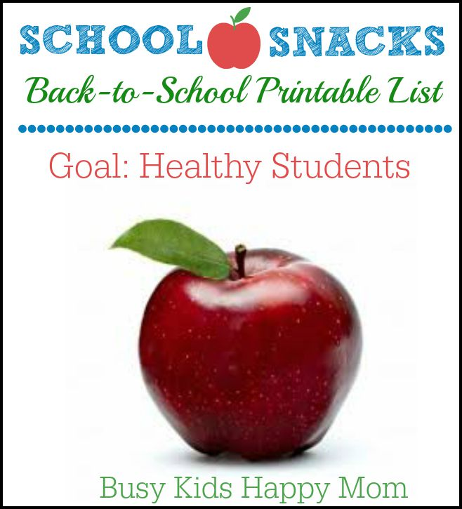 Healthy classroom snack ideas.