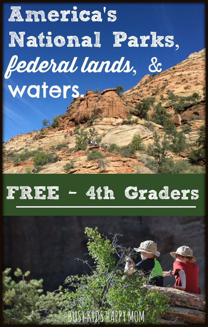 4th graders get in free to national parks