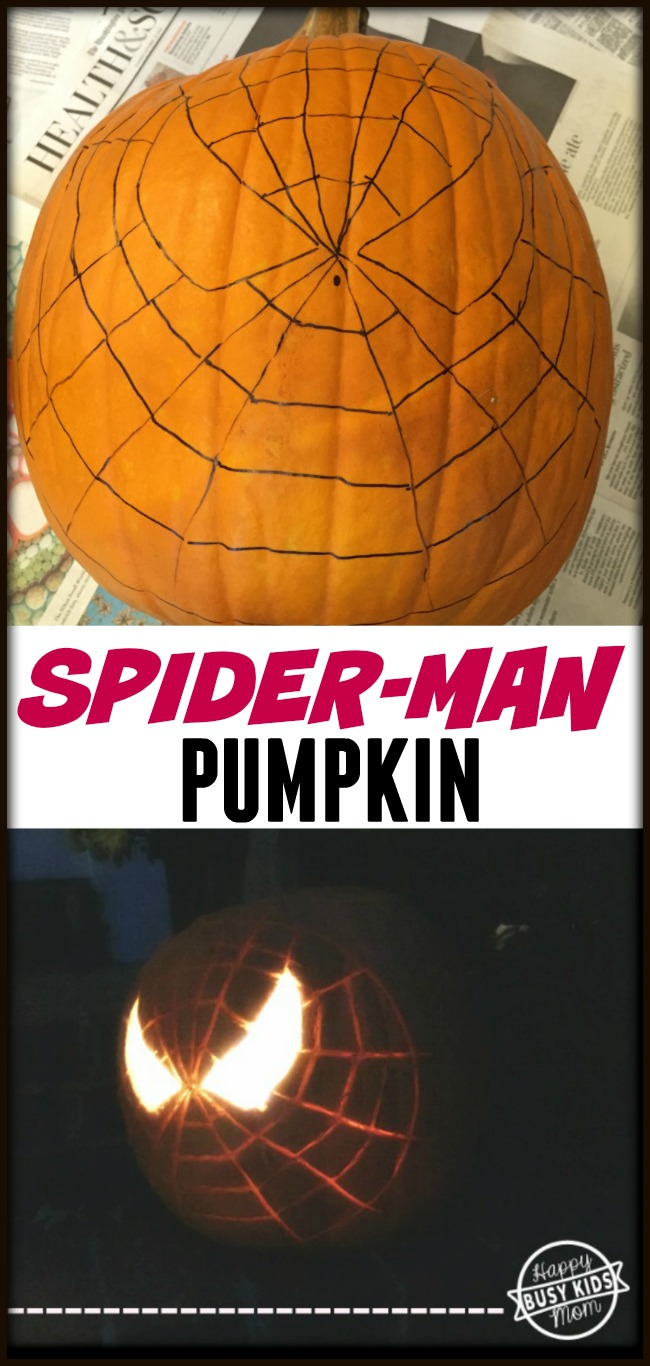 How to carve a spider man pumpkin