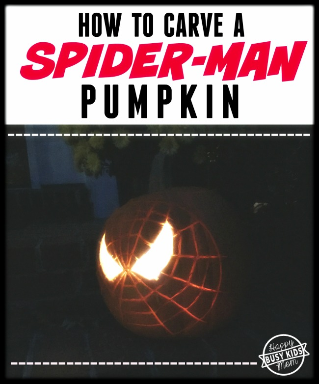 How to carve a Spider Man Pumpkin.