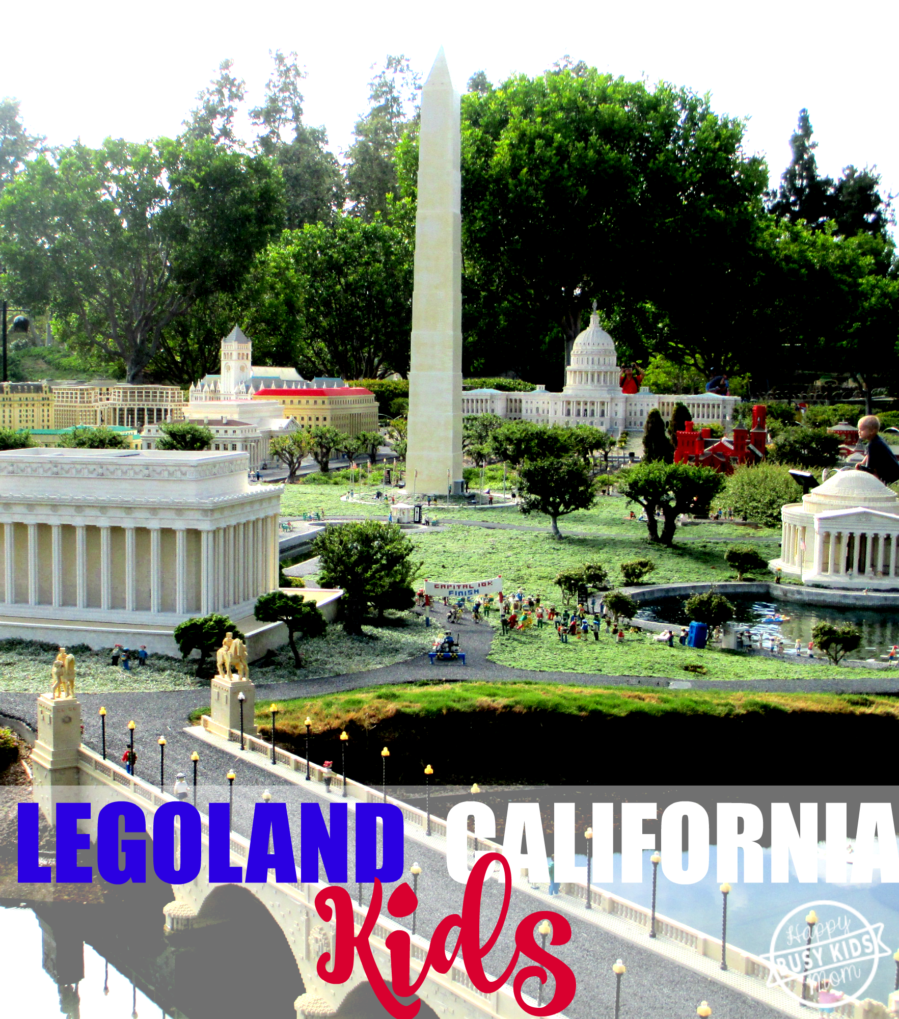 Tips for visiting LEGOLAND California, Our best tip for where to eat for healthy food and view of Miniland.
