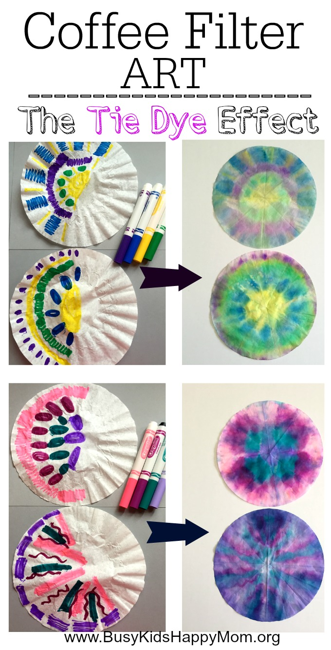 Tie Dye Coffee Filter Art For Kids Busy Kids Happy Mom
