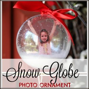 DIY Photo Ornaments with a Snow Globe