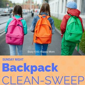 start the week off right with the backpack clean-sweep!