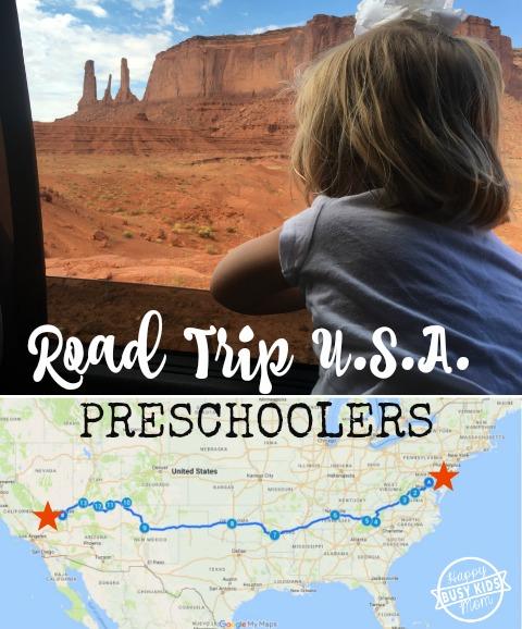 Drive Across America with Preschoolers