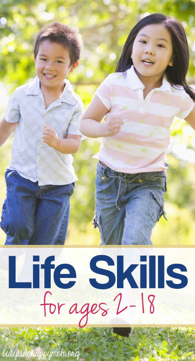Life Skills for Kids ages 2 - 18